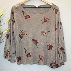 Lucky Brand- Floral print blouse w/ shimmer